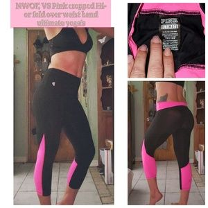 NWOT, VS Pink ultimate yoga hi waist able leggings